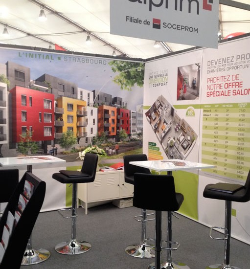 Stand ALPRIM – Salon Régional de l'Immobilier à Strasbourg