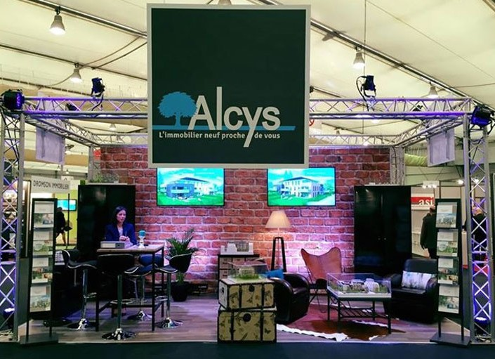 Stand ALCYS – Salon Régional de l'Immobilier à Strasbourg