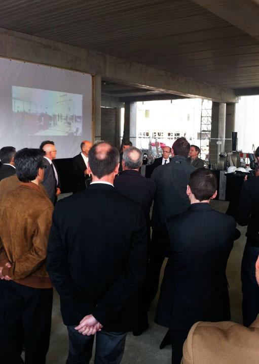«Serrage du boulon» de la futur Halle de Metz pour Nacarat