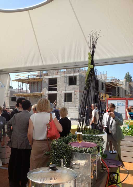 Pose de la première pierre du programme immobilier SERENI'T pour Bouygues Immobilier à Strasbourg