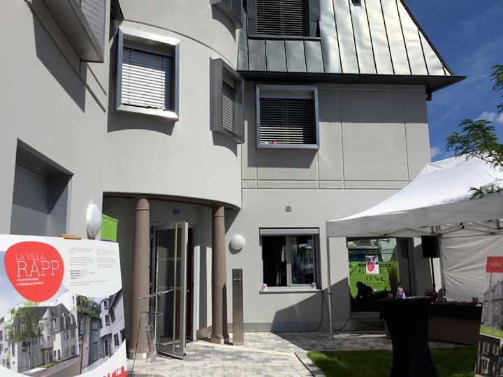 Inauguration de la Villa Rapp à Strasbourg
