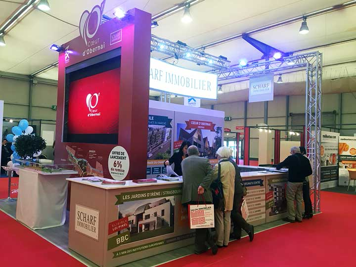 CONCEPTION STAND SCHARF IMMOBILIER