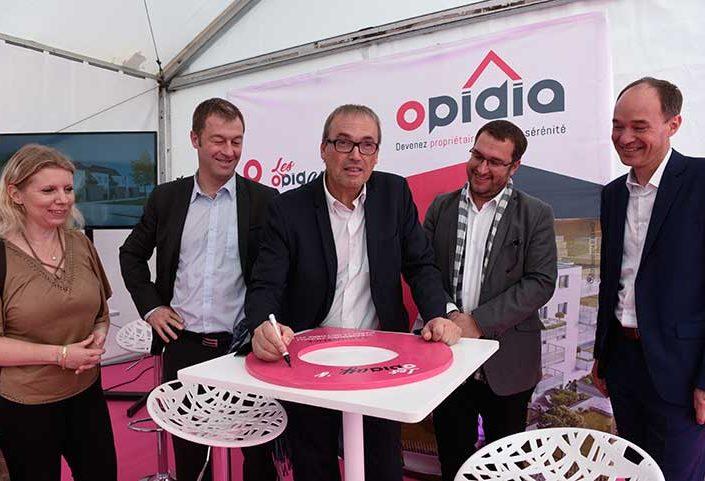 Lancement OPIDIA & Pose de la Première Pierre le Jouvence à Strasbourg